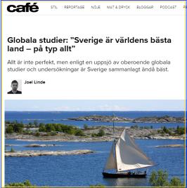 Sverige är bäst - ingen protest! Bild källa: Café