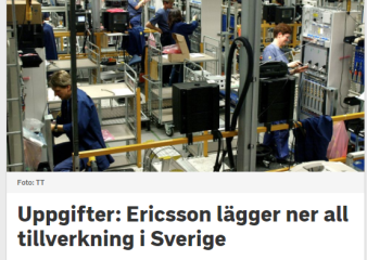 """De uppe i ledningsgruppen på Ericsson, sov på föreläsningen på högskolan, då man gick igenom begreppet """"bad-will"""" (bild källa: svt)"""