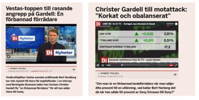 Bert Nordberg (var vd för Sony Mobile, tidigare Sony Ericsson). Bilder ovan: källa di.se