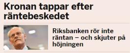 Fest på Riksbanken – Nu kan vi löka ett kvartal till och rulla tummarna och dricka…