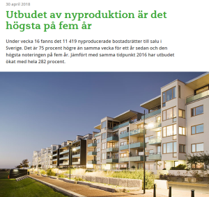 Har Sverige för mycket eller för lite bostäder? Källa: Hemnet