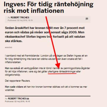 Ingves smyg-flaggar för en sänkning? (källa: di.se)