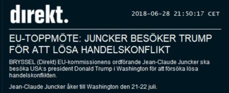 EU skickar Jean Claude Juncker till USA med mössa i hand (källa: Sveriges bästa nyhetsbyrå - Nyhetsbyrån Direkt)