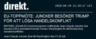 Juncker till USA för att lösa konflikten (källa: Nyhetsbyrån Direkt)