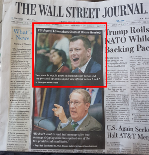 Framsidan på Wall Street Journal idag