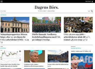 Sveriges nya finanstidning - Dagens Börs. Av engagerade skribenter - för seriösa läsare som är intresserad av ekonomi och börs, men som vill slippa bullshit.