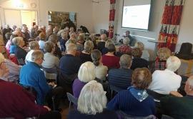 65 personer lyssnade när Tomas Lagerhed informerade om molntjänster.