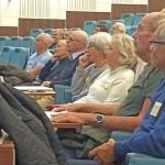 Intresserade åhörare i Sessionssalen
