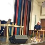 Krister Carlsson och Anders Magnusson på scenen. Det handlade om E-hälsa.
