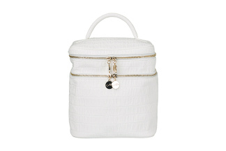 Beauty Bag White Croco - Beauty Bag White Croco