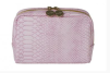 BEAUTY COSMETIC CROCO STRUKTUR - Beauty Bag Pink Croco