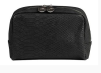 BEAUTY COSMETIC CROCO STRUKTUR - Beauty Bag Black Croco