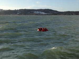 Gruppkram i havet