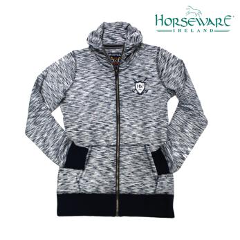 Horseware Iris Zip Top tröja - Grå navy melange stl S