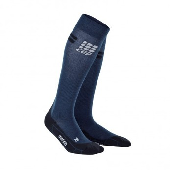 Merino Riding Compression Socks - Grå/svart, stl 3