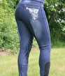 HRS Jeans Country - Blå, knäskodda, stl 42