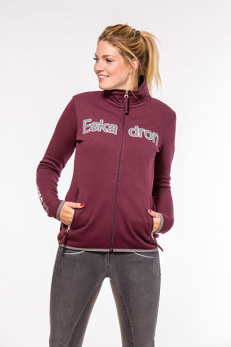 Eskadron Nicky fleece-zip - Blackberry stl L