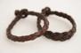Rundflätat brunt läderarmband