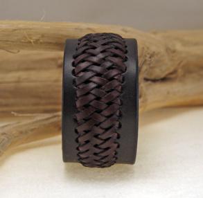 Earth pilgrim flätat brett armband - 15 cm