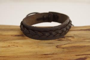Waki Läderarmband brun