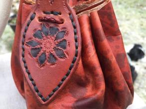 Läderpung/leatherpouch - Läderpung Black Loranga