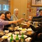 Dinner med Skolans chef och lärare.