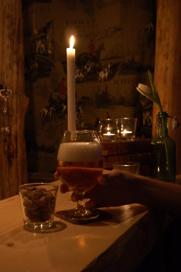 En välförtjänt öl i baren