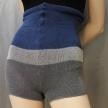 Stickade shorts med hög midja