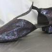 Svarta glitter sandaler