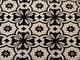 Mode - Stretchcanvas i stilrent mönster Vit-svart