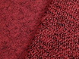 Stickat kofttyg med melering - Ökotex Välj färg - Rödmelerad