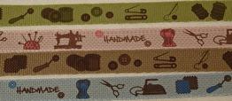 Bomullsband handmade - 10 mm - Välj färg - Ljusblå