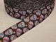 Dekorband 25 mm - Sugarskulls Välj färg - Svart