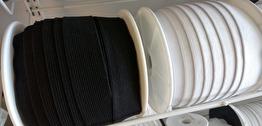 Mjuk resår 30 mm - Svart eller vit - Resår 30 mm - Svart