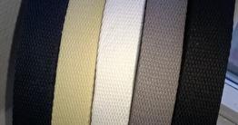 Väskband 25 mm 100 % bomull 5 färger - Naturvit