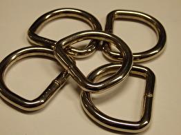 Helsvetsad D-ring - 25 mm