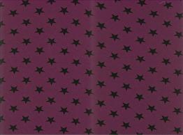 Trikå - Stjärna burgundy melerad Ökotex