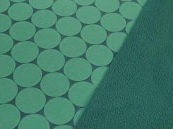 Nano softshell - Cirklar petrolgrön Ökotex