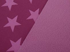 Nano softshell - Stjärna Cerise-ljusrosa Ökotex
