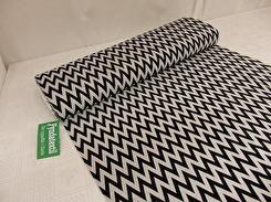 Mode stickad - ljusgrå-svart zig-zag Ökotex