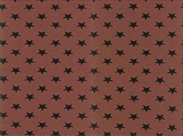 Trikå - Stjärna terracotta ökotex
