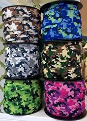Kamoflagemönstrad resår 28 mm (6 färger)