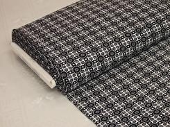 Mode - Stretchcanvas i stilrent mönster Svart-vit
