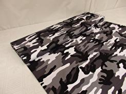 Mode - Mönstrad twill svart-vit camoflage