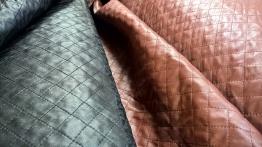 Kviltat fuskskinn - Rostbrun