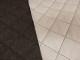 Kviltad inredningstyg - Moskau mörkgrå melerad kvilt 5,5x4 cm