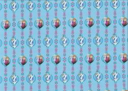 Trikå digital - Frost med vänner ljusblå Ökotex