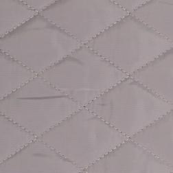 Morten grå-silver - Kviltad jacktyg med pälsbaksida 5x4 cm