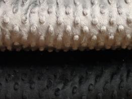 Enfärgad minky - Svart