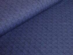 Trikå - Autumn geometric - Blue Ökotex